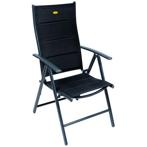 Camp 4 Ischia Mega Comfort Dark Frame Reclining Camping Chair (One Size) (Black)