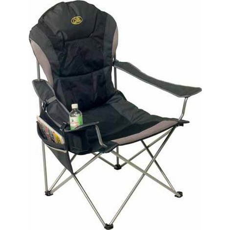 Camp 4 Tobago Folding Camping Chair (One Size) (Black/Grey)