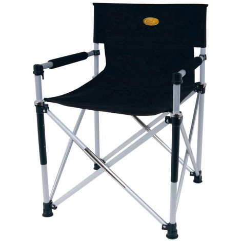 Camp 4 Toscana Luxus Directors Folding Camping Chair (One Size) (Black)