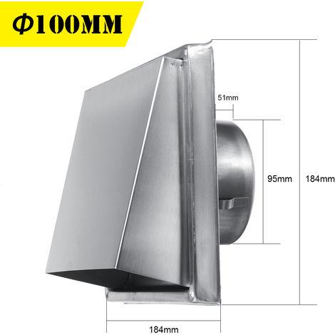 Campana de chimenea Sombrero Rejilla Cubierta Ventilación Ventilación Diámetro 100 mm Montaje de tubería de 4 pulgadas