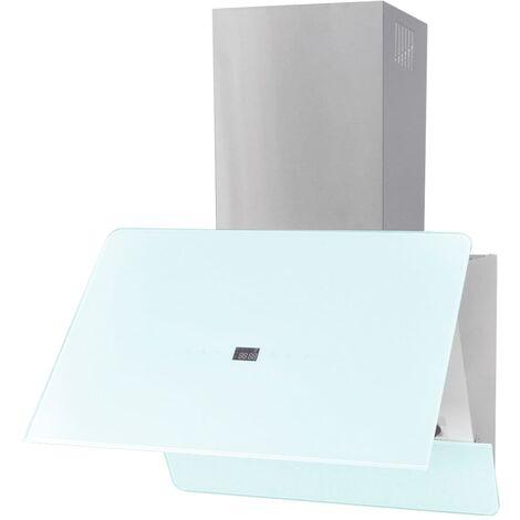 Campana extractora cristal templado blanco 600 mm
