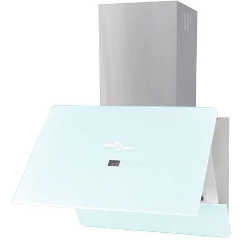 Campana extractora cristal templado blanco 600 mm - Blanco