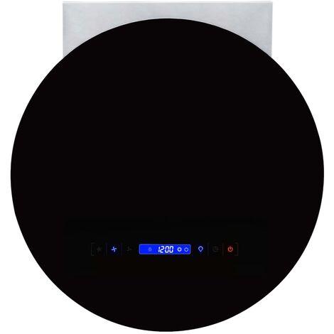 Campana extractora de pared pantalla sensor táctil 756 m³/h LED