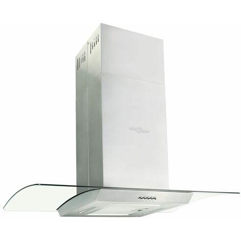 Campana extractora de techo 90 cm acero inoxidable 756 m³/h LED