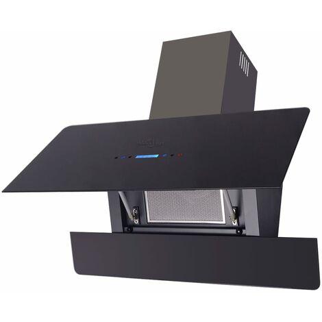 Campana Extractora Modelo Panel Táctil Plateado 900mm 180W Colores Negro/Blanco
