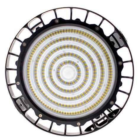 Campana Led industrial UFO 150W NICHIA + MeanWell driver 0-10V regulable, Blanco frío, Regulable