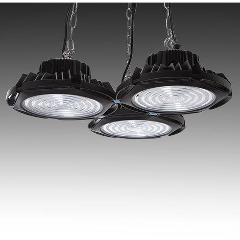 Campana LED IP66 450W 160Lm/W Lumileds 3030 60º Driver Meanwell HBG | Blanco Frío (HB-JL04R-3*150W-CW)
