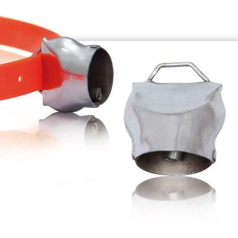 Campana Suiza, hecha de hierro y níquel-cromo plateado, con asa superior, diferentes tamaños diferentes