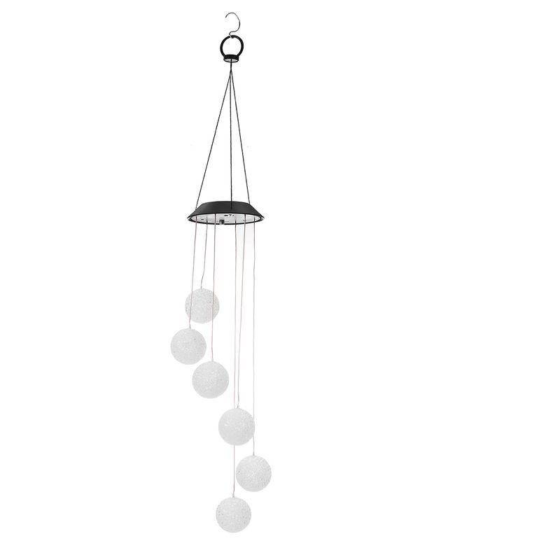 Insma - Campanelli eolici a LED solari per esterni cambia colore chiaro campana a vento appesa a spirale lampada da giardino decorazione del giardino