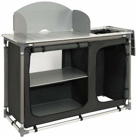 CampFeuer Armoire de camping, cuisine de camping avec cadre en aluminium