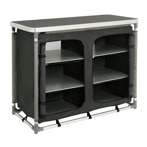 CAMPFEUER camping cupboard, camping kitchen with aluminium frame