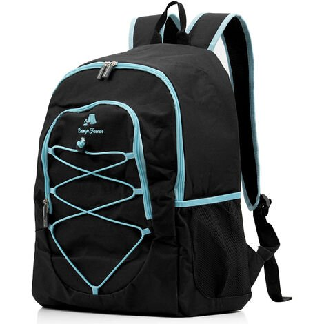 CampFeuer cooling backpack 30L, black, insulated bag for BBQ, camping