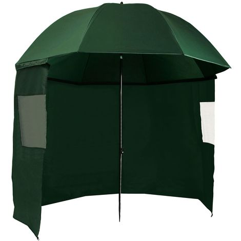 CAMPFEUER fishing umbrella, 240 cm with side wall and pegs, AS1