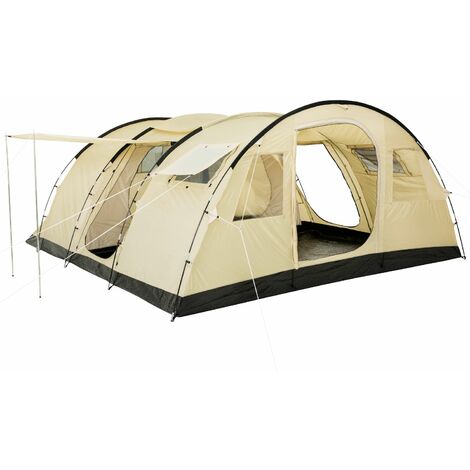 CampFeuer - Large tunnel tent, 6 people, beige / sand, 5000 mm WS