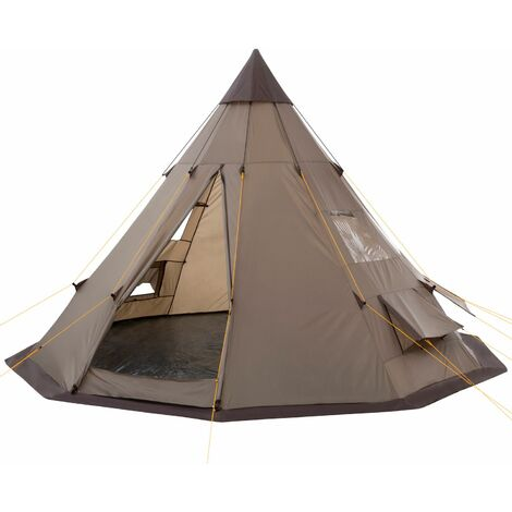 CampFeuer - Spacious tipi tent (teepee) - Indian tent, brown