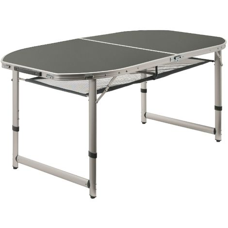 Campfire camping table, folding table, approx. 150 x 80 x 55/65/70 cm