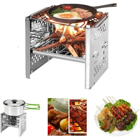 """main image of """"Camping BBQ, Portable Camping BBQ, Portable Beach BBQ Sturdy Non-slip Detachable Stainless Steel for Outdoor Camping Picnic"""""""