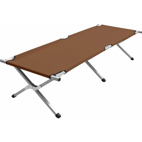 Camping Bed 190x74x47 cm XL Brown