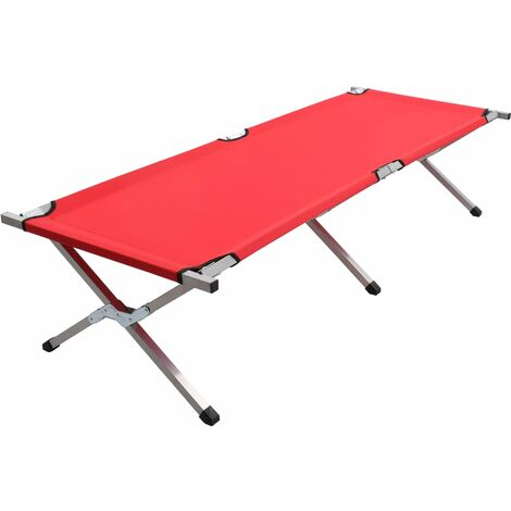 Camping Bed 190x74x47 cm XL Red