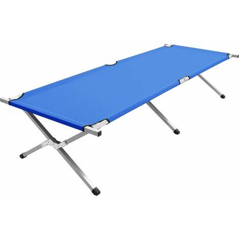 Camping Bed 210x80x48 cm XXL Blue