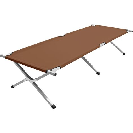 Camping Bed 210x80x48 cm XXL Brown - Brown
