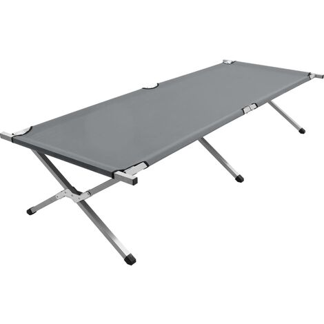 Camping Bed 210x80x48 cm XXL Grey