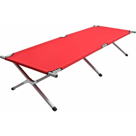 Camping Bed 210x80x48 cm XXL Red