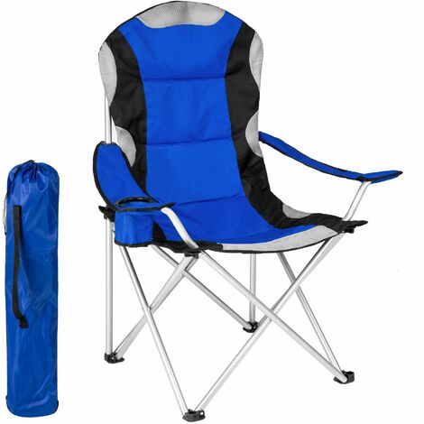 Camping chair - padded - folding chair, fold up chair, folding camping chair