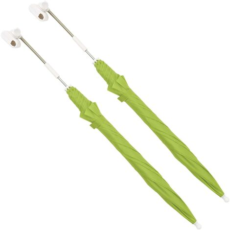 Camping Chair Parasols 2 pcs Green 105 cm