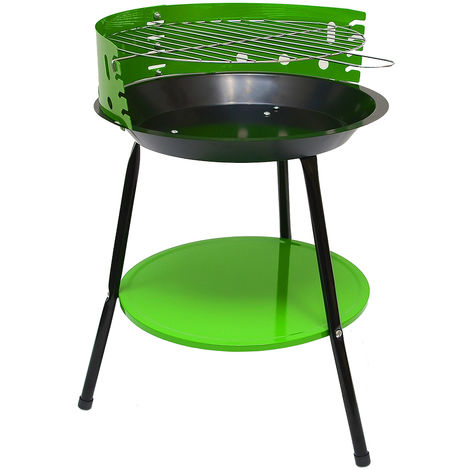 Camping Holzkohle Grill 32cm Grillrost - Festival Standgrill Dreibein Rundgrill