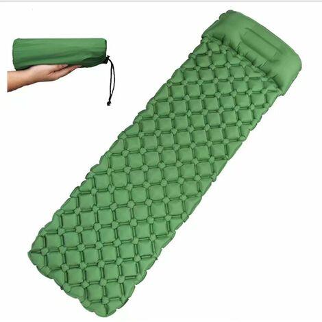 Camping mattress, sleeping mats with Camping pillow Ultralight air bed for camping, travel, hiking (green)