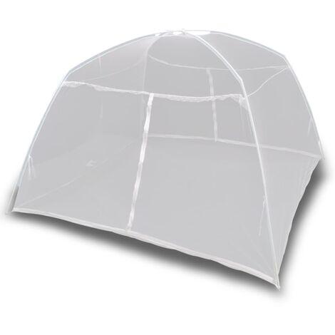 "main image of ""Camping Tent 200x120x130 cm Fiberglass White - White"""