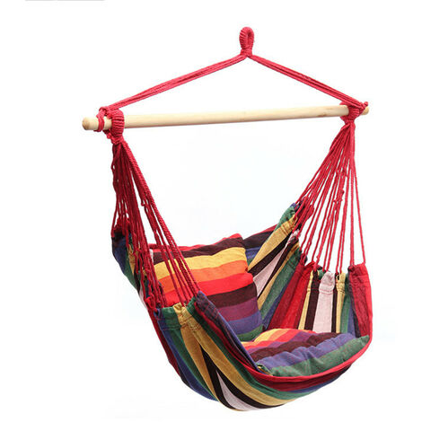 Camping Tent Hanging Hammock Chair 120KG Red Home Portable Outdoor Swing Chair Outdoor Seating Camping Garden