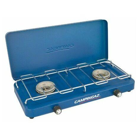 Campingaz 2000010109 Base Camp - Hornillo de gas con tapa (43 x 20 x 6 cm), color azul