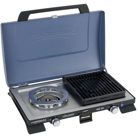 Campingaz 400 SG, Gaskocher, blau/schwarz, mit Grillplatten