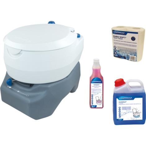 Campingaz Portable Campingtoilette 20L, Komplett-Set, Toilette, weiß/grau