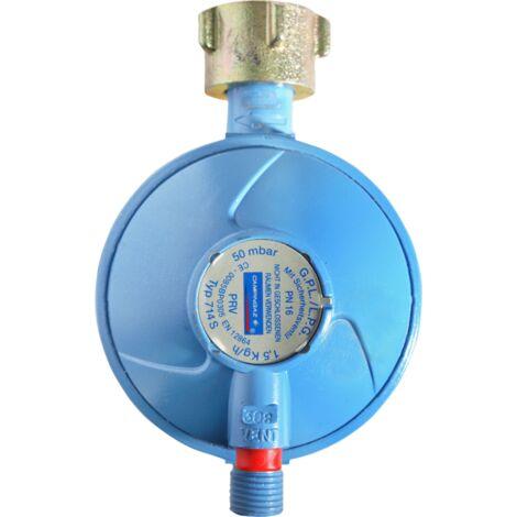 Campingaz Universal-Gasdruck-Sicherheitsregler 50mbar, Druckminderer, 1,5kg/h