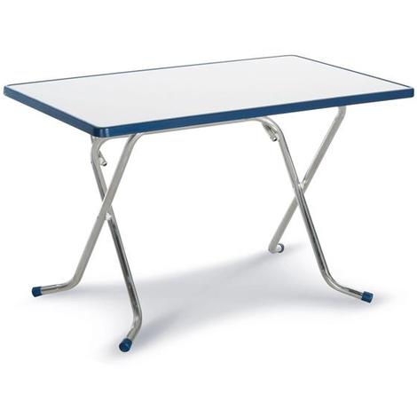 Campingtisch Gartentisch.Campingtisch Gartentisch Nizza Klappbar Alu Silber Blau 110x70cm