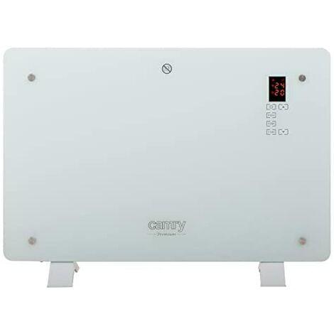 Camry CR7721 Convecteur électrique design en verre, radiateur à écran LCD et tactile, télécommande, minuteur, 2 niveaux de température, 750/1500W.