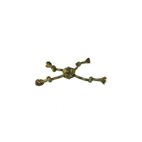 Camuflaje cuerda estrella con 4 nudos, 38 cm