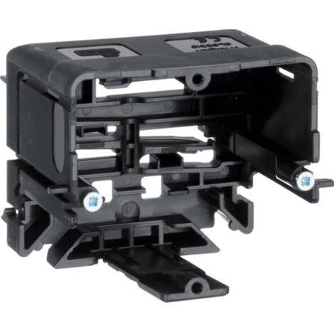 Canal dallège Hager GLS5510 GLS5510 prise encastrable pour appareils (L x l) 71 mm x 64 mm noir 1 pc(s)