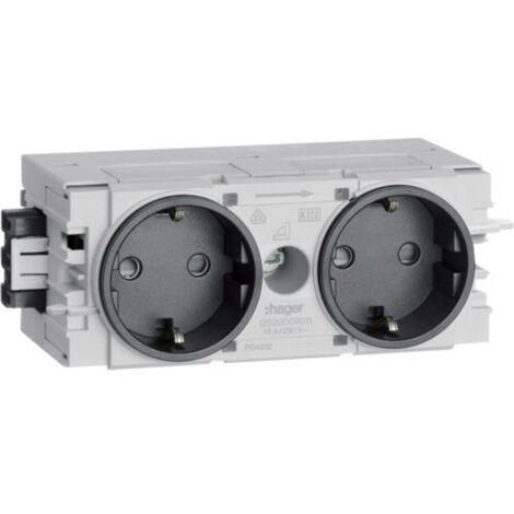 Canal dallège Hager GS20009011 GS20009011 module enfichable (l x h x p) 120 x 50 x 61 mm noir graphite (RAL 9011) 1 pc(