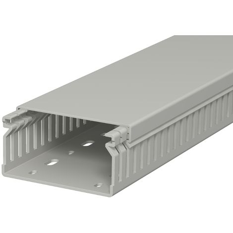 Canal de cuadro, 40x80x2000, PVC, gris pie OBO 6178016