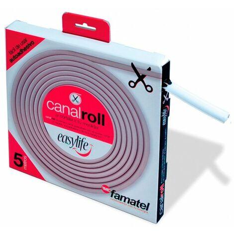 Canaleta adhesiva 9x9mm blanca 5m rollo