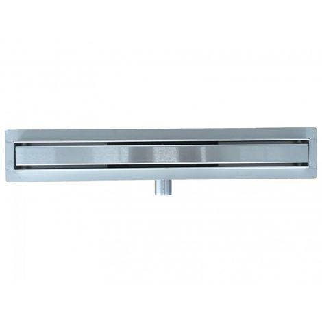 Canaleta de suelo de gran caudal para ducha a nivel en acero inoxidable GT02 - medida a elegir:600mm