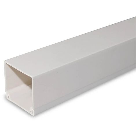 Canaleta eléctrica blanca a tornillo 2M 100x60mm