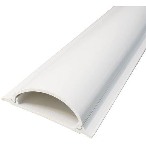 Canaleta eléctrica de suelo adhesiva 2M 20x70mm