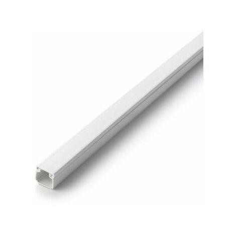 Canaleta Electricidad 16X16Mm Adhesivo Pvc Blanco Inofix 20 Pz