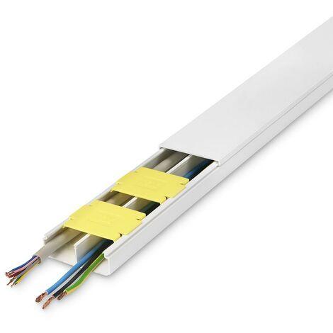 Canaleta Electricidad Instalacion Adhesiva 53X20Mm Inofix Blanco 3604-2G