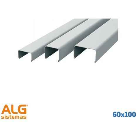 Canaleta protección tuberías 60x100
